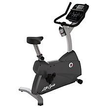 Buy Life Fitness Lifecycle C1 Upright Exercise Bike with Track Connect Console Online at johnlewis.com