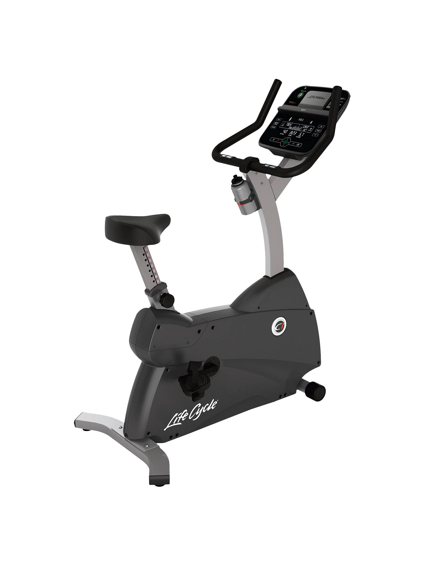 BuyLife Fitness Lifecycle C1 Upright Exercise Bike with Track Connect Console Online at johnlewis.com