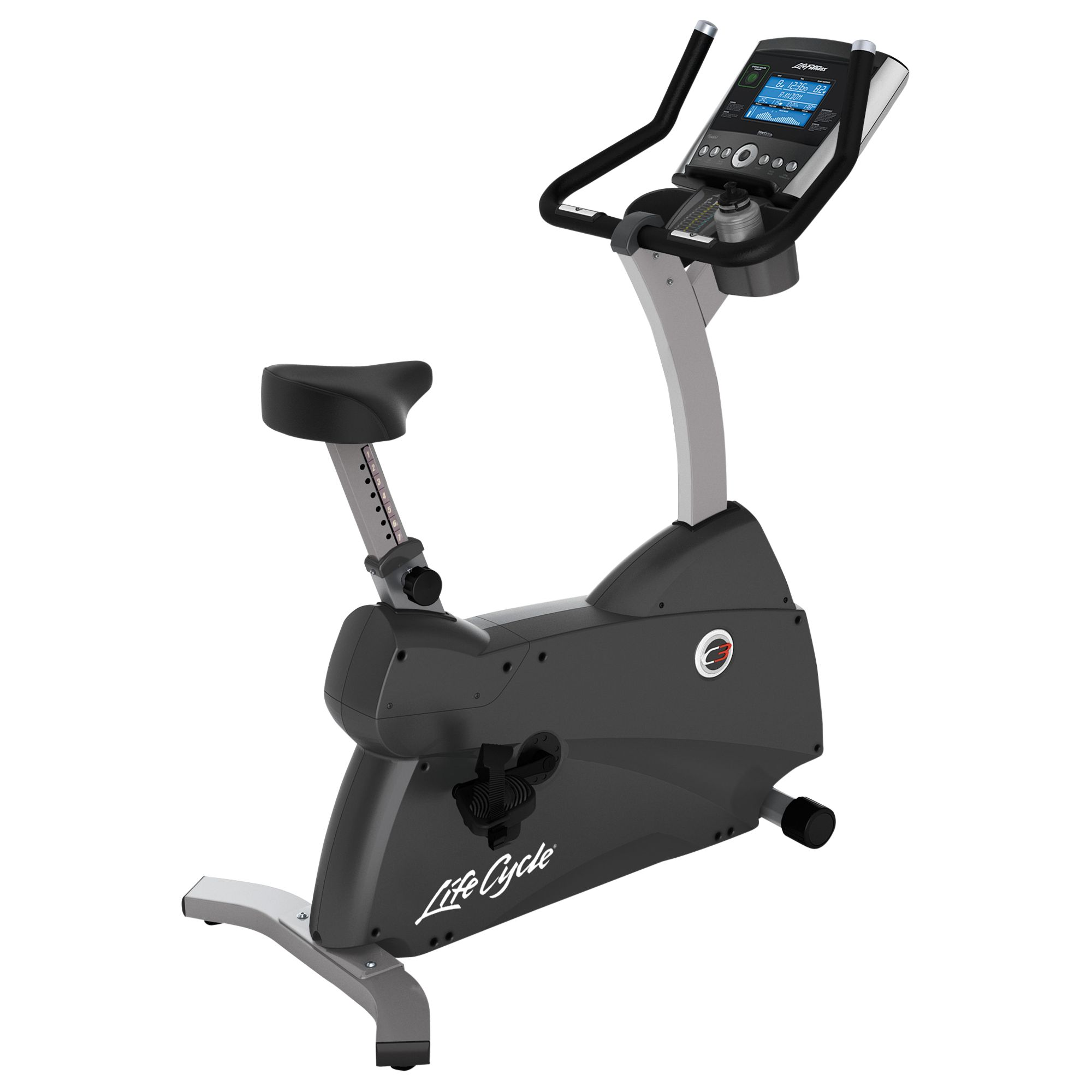 Life Fitness Life Fitness Lifecycle C3 Upright Exercise Bike with Go Console