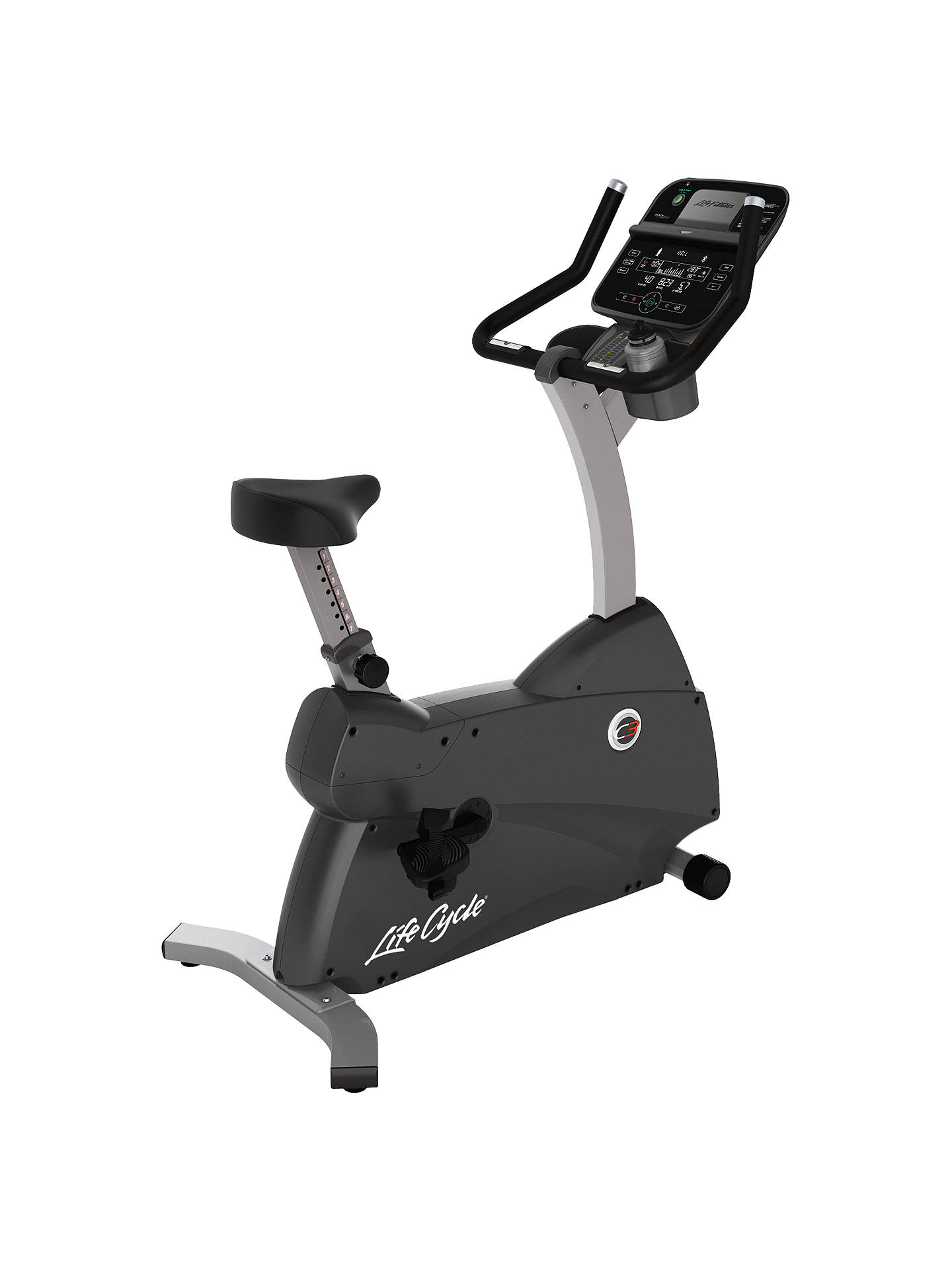 1c3dd8cb07f Buy Life Fitness Lifecycle C3 Upright Exercise Bike with Track Connect  Console Online at johnlewis.
