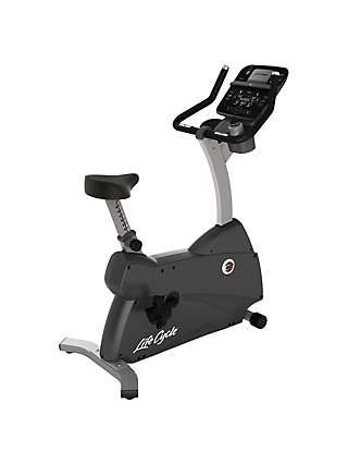 Life Fitness Lifecycle C3 Upright Exercise Bike with Track Connect Console