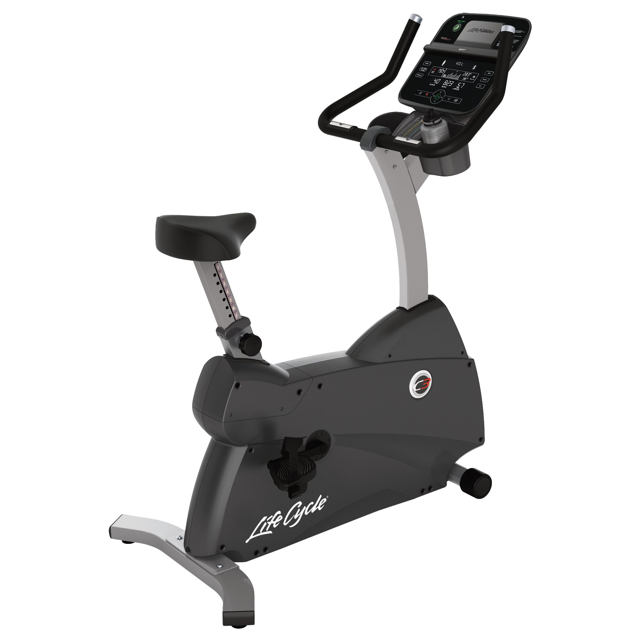 Life Fitness Life Fitness Lifecycle C3 Upright Exercise Bike with Track Connect Console