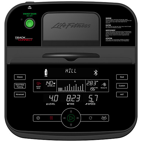 Buy Life Fitness F3 Folding Treadmill with Track Connect Console Online at johnlewis.com