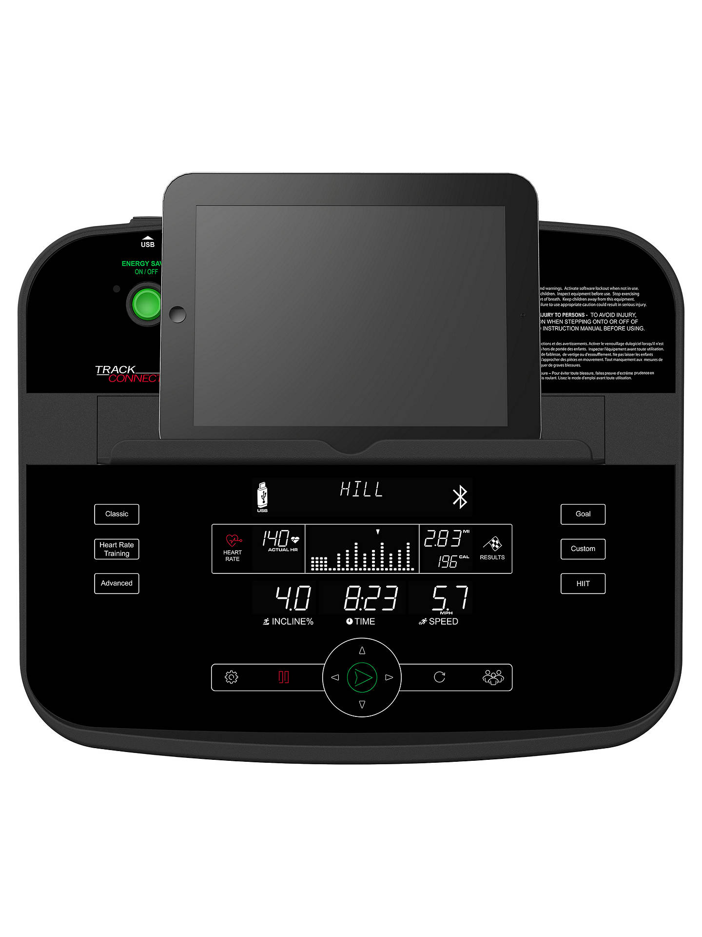BuyLife Fitness T3 Treadmill with Track Connect Console Online at johnlewis.com