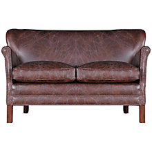 Buy Halo Little Professor Small Biker Tan Leather Sofa Online at johnlewis.com