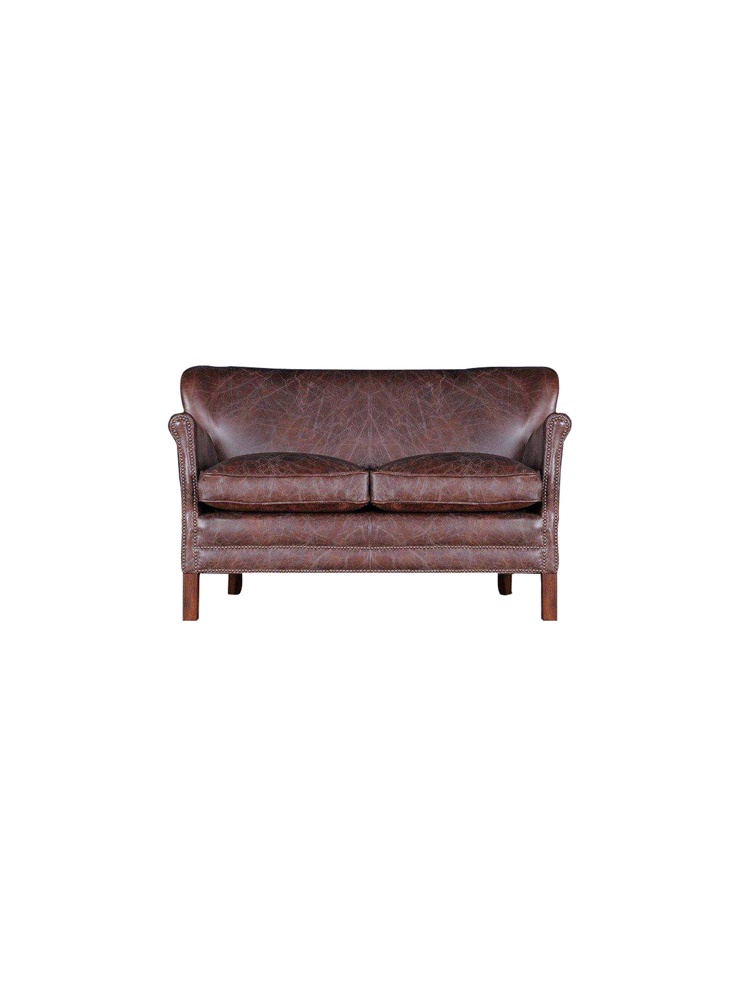 Halo Little Professor Small 2 Seater Leather Sofa Biker Tan Online At Johnlewis