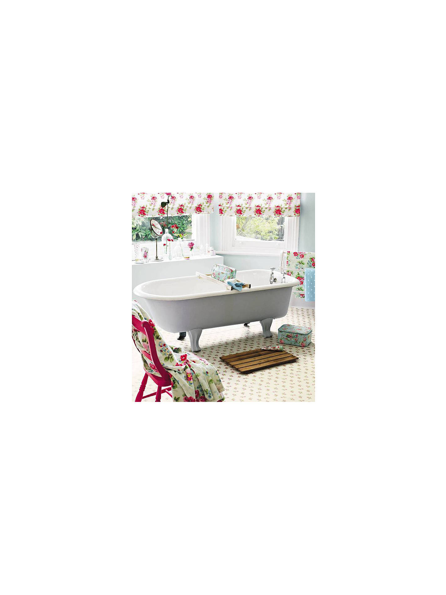 BuyCath Kidston For Harvey Maria Rose Sprig Vinyl Floor Tiles, White Online at johnlewis.com