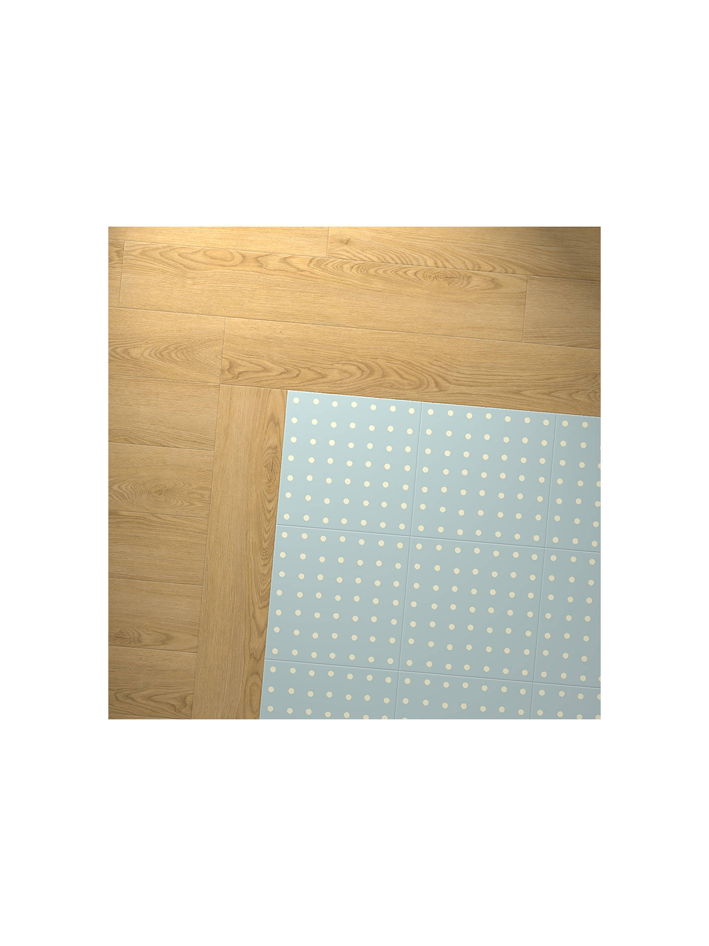 BuyCath Kidston For Harvey Maria Spot Vinyl Floor Tiles, Blue Online at johnlewis.com