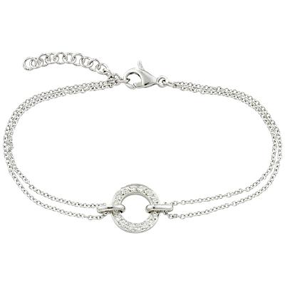 London Road 9ct Gold Diamond Circle Charm Meridian Bracelet