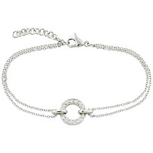 Buy London Road 9ct White Gold Diamond Circle Charm Meridian Bracelet Online at johnlewis.com