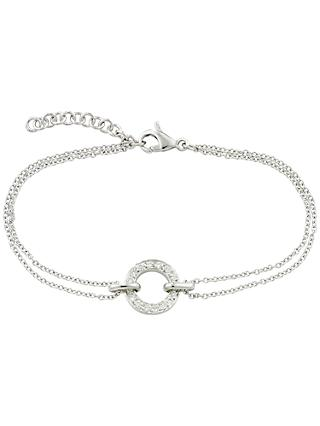 London Road 9ct Gold Diamond Circle Charm Meridian Bracelet