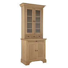 Buy Neptune Henley 3ft Glazed Rack Oak Dresser, Oak Online at johnlewis.com