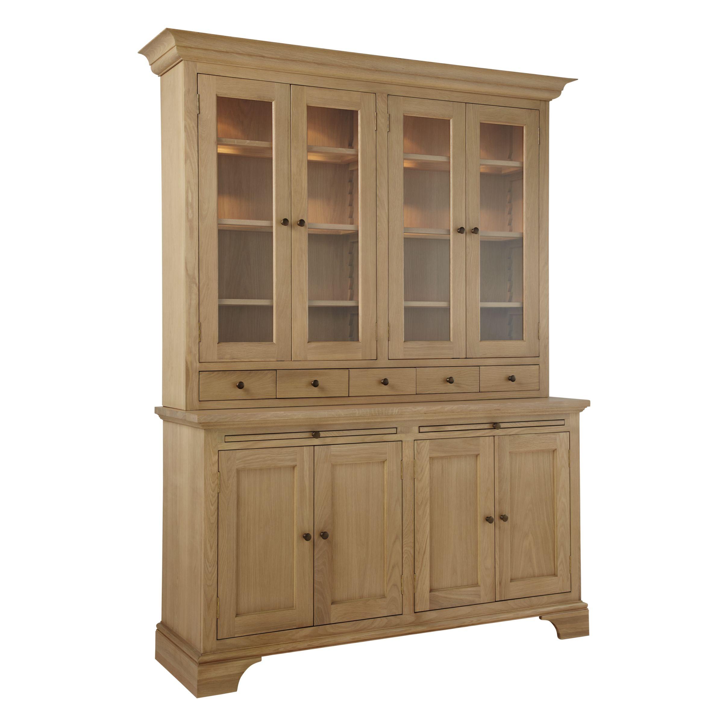 Buy Neptune Henley 5ft Glazed Rack Oak Dresser Oak John Lewis