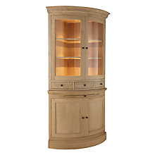 Buy Neptune Henley Curved Glazed Rack Oak Dresser, Oak Online at johnlewis.com