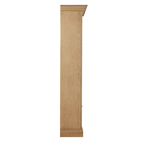 Buy Neptune Henley Narrow Full Height Glazed Oak Cabinet, Left Hinged, Oak Online at johnlewis.com