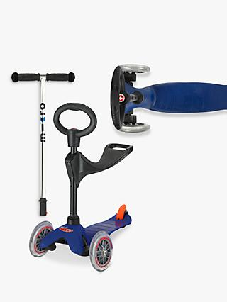 Micro Mini Micro 3-in-1 Scooter with Seat and O-Bar Handle, 1-5 years, Blue