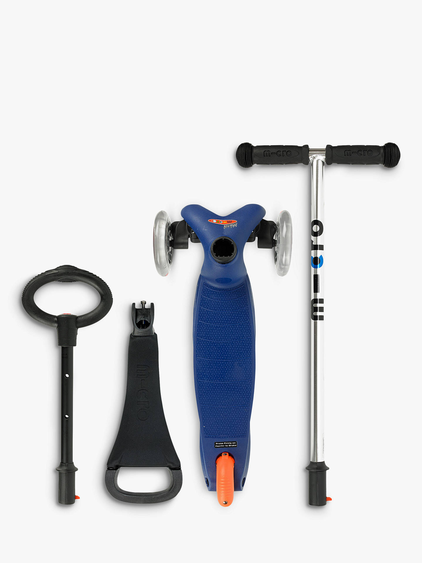 BuyMicro Mini Micro 3-in-1 Scooter with Seat and O-Bar Handle, 1-5 years, Blue Online at johnlewis.com