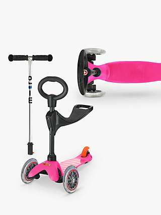 Micro Scooters Mini 3in1 Classic Ride On Scooter, Pink