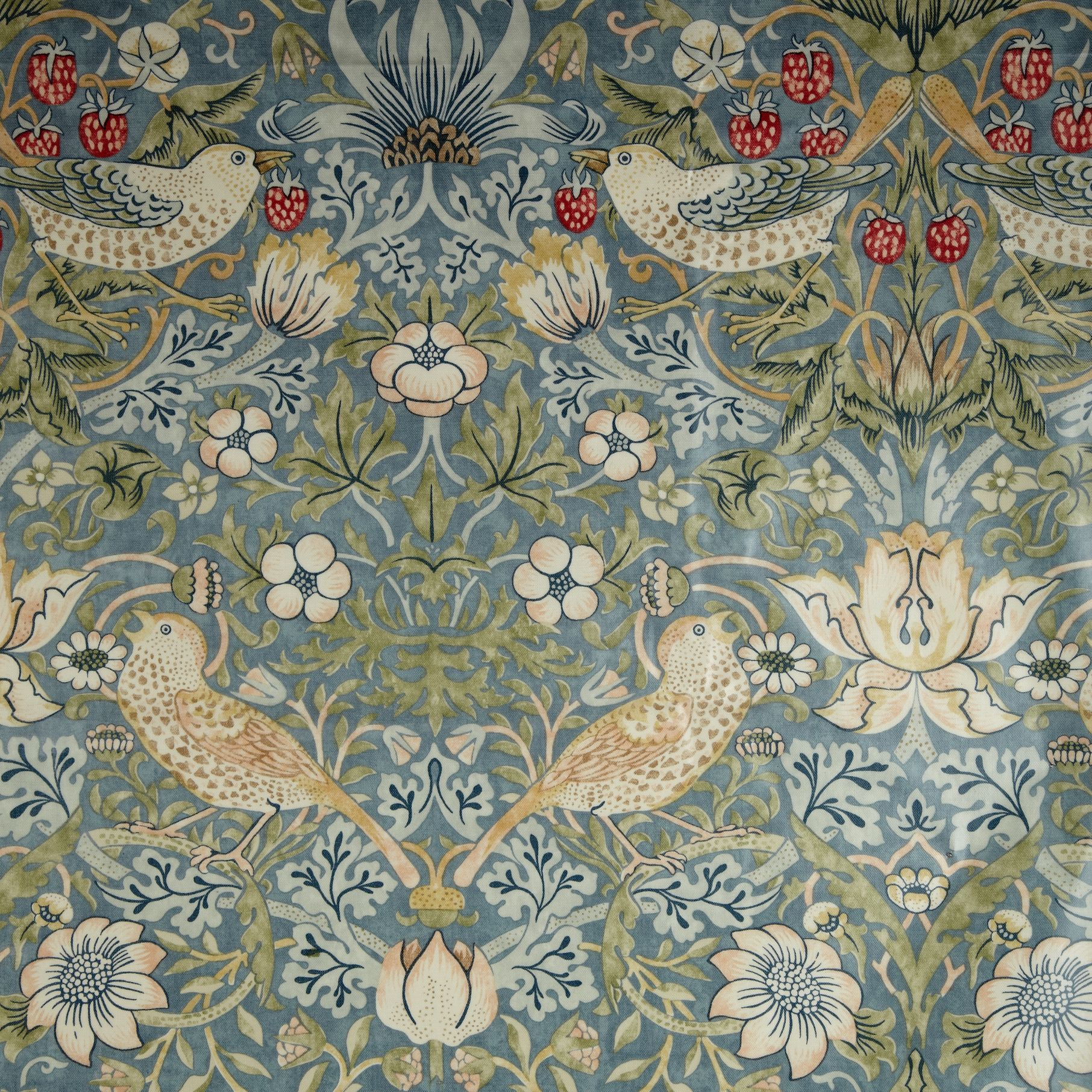 Morris & Co. Strawberry Thief PVC Tablecloth Fabric