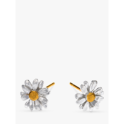 Product photo of Alex monroe classic daisy stud earrings silver