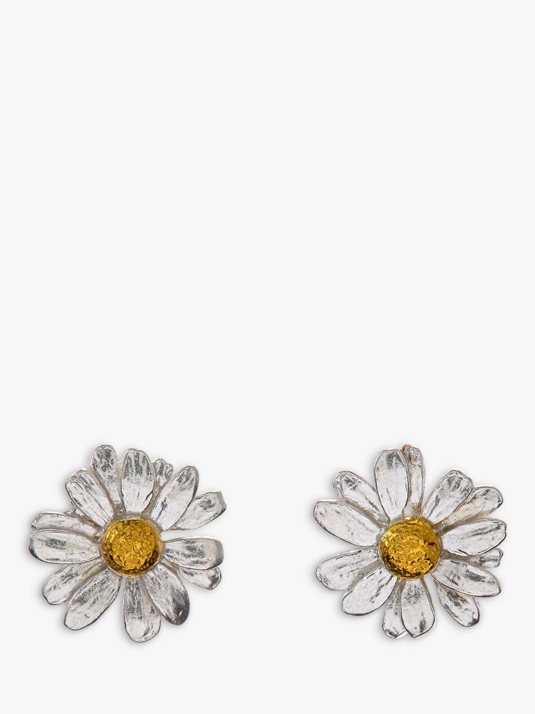 Alex Monroe Alex Monroe Classic Daisy Stud Earrings, Silver/Gold