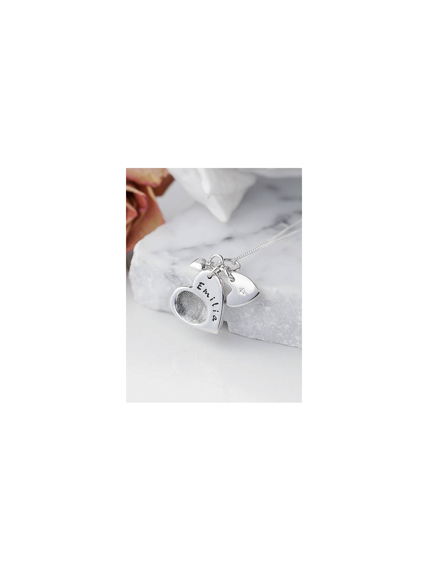 cd3ea5b1f Buy Under the Rose Personalised Fingerprint Charm Necklace Online at  johnlewis.com ...