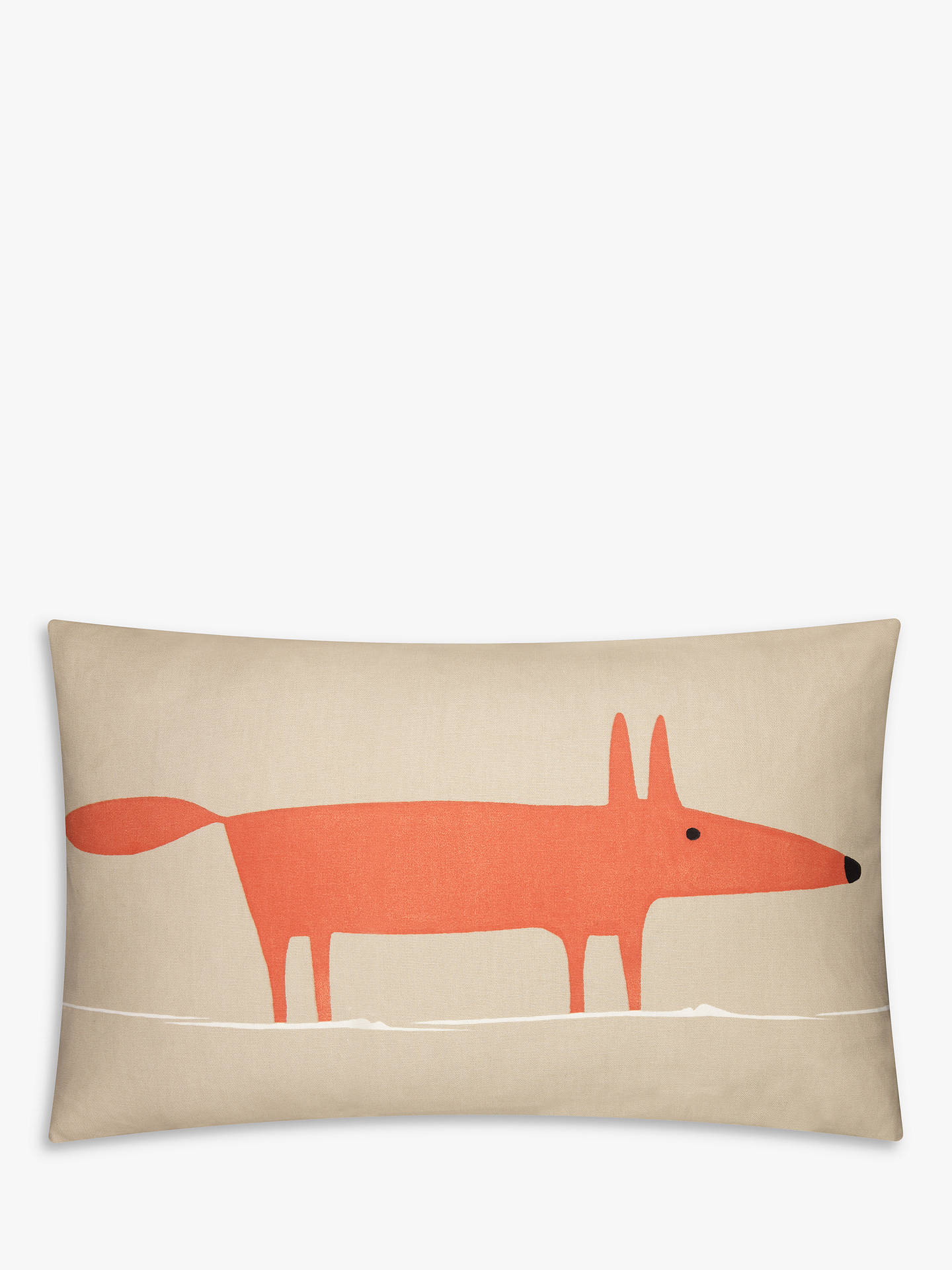 BuyScion Mr Fox Cushion, Orange / Beige Online at johnlewis.com