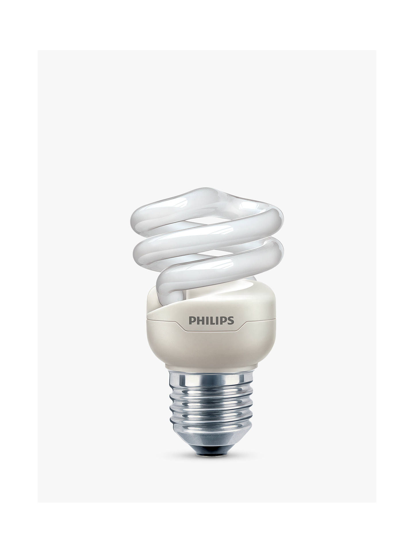 BuyPhilips 8W ES Energy Saver Spiral Bulb, Opal Online at johnlewis.com