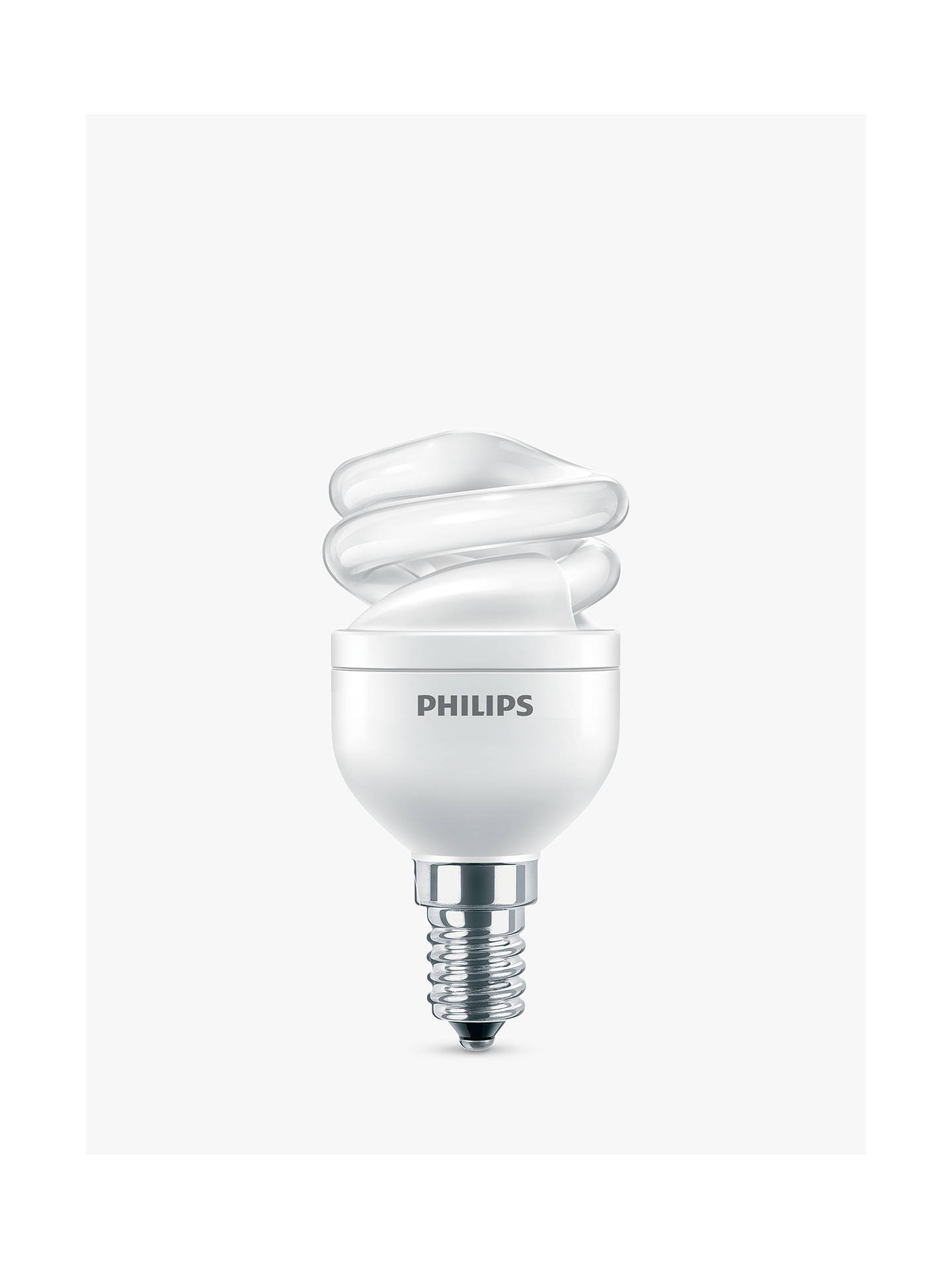 Buy Philips 8W SES Energy Saving Spiral Bulb, Opal Online at johnlewis.com