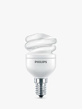 Philips 8W SES Energy Saving Spiral Bulb, Opal