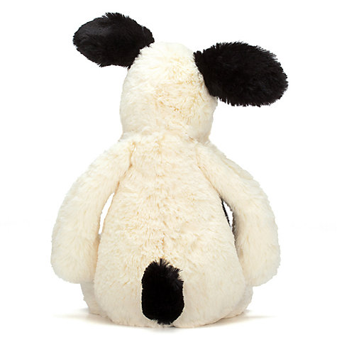 Buy Jellycat Bashful Puppy Soft Toy, Small, Black/White Online at johnlewis.com