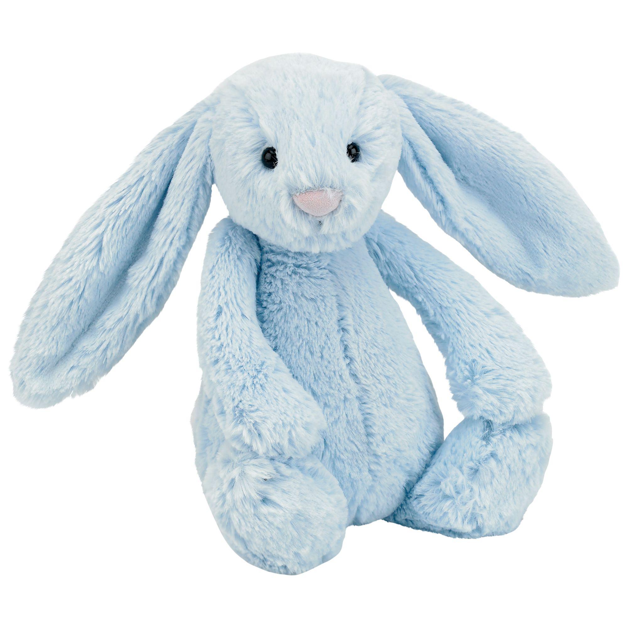 Jellycat Jellycat Bashful Bunny Soft Toy, Medium, Blue
