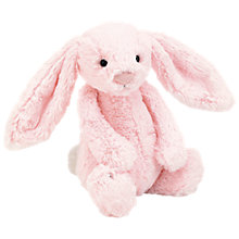 Buy Jellycat Bashful Pink Bunny Soft Toy, Medium Online at johnlewis.com
