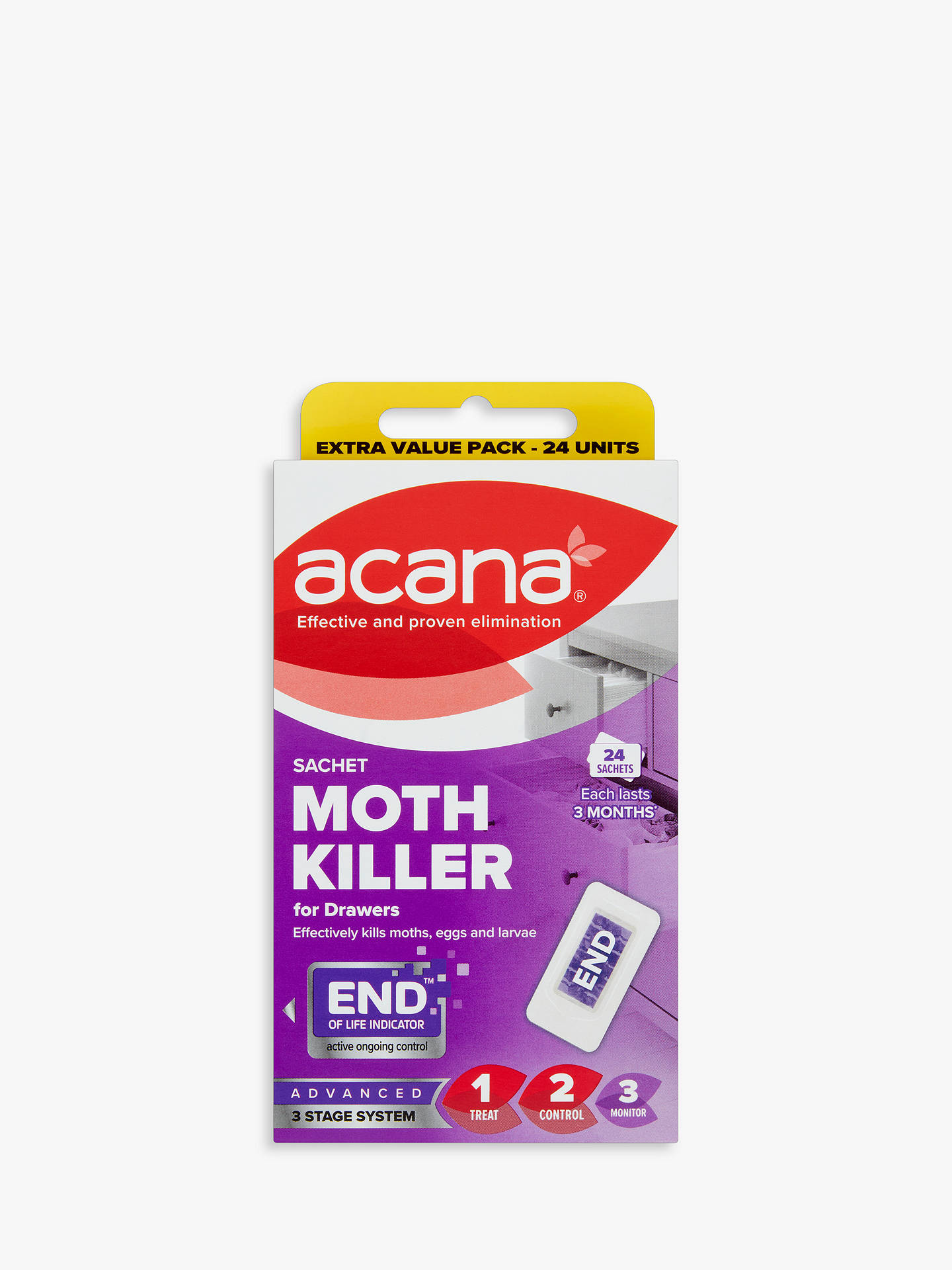 BuyAcana Sachet Moth Killer and Drawer Freshener, Pack of 24 Online at johnlewis.com