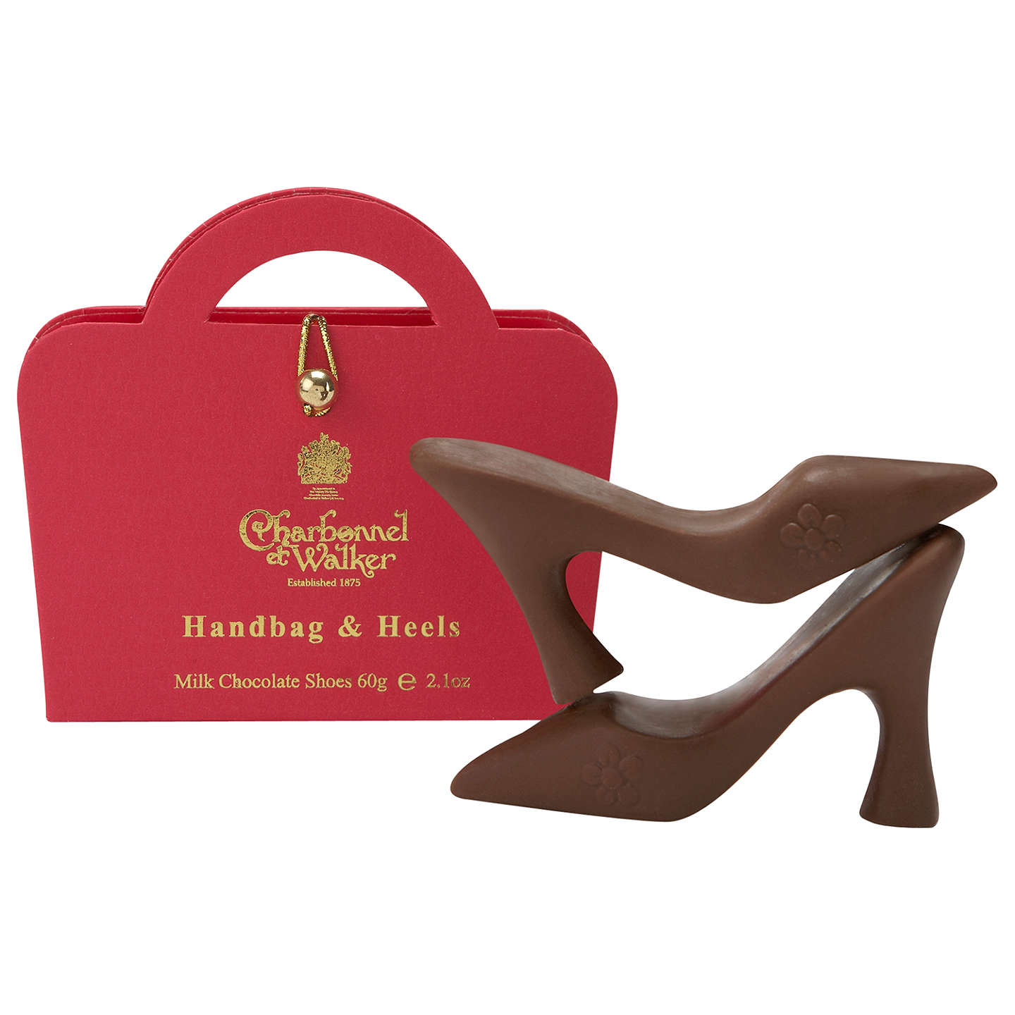 BuyCharbonnel et Walker Milk Chocolate Handbag & Heels Set, 60g, Pink Online at johnlewis.com
