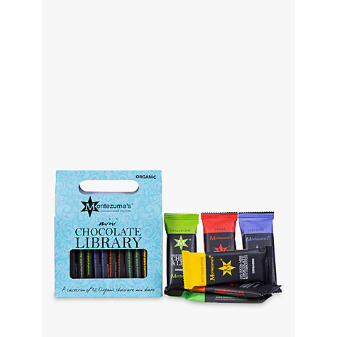 Buy Montezuma's Mini Me Organic Chocolate Bar Library, 360g Online at johnlewis.com