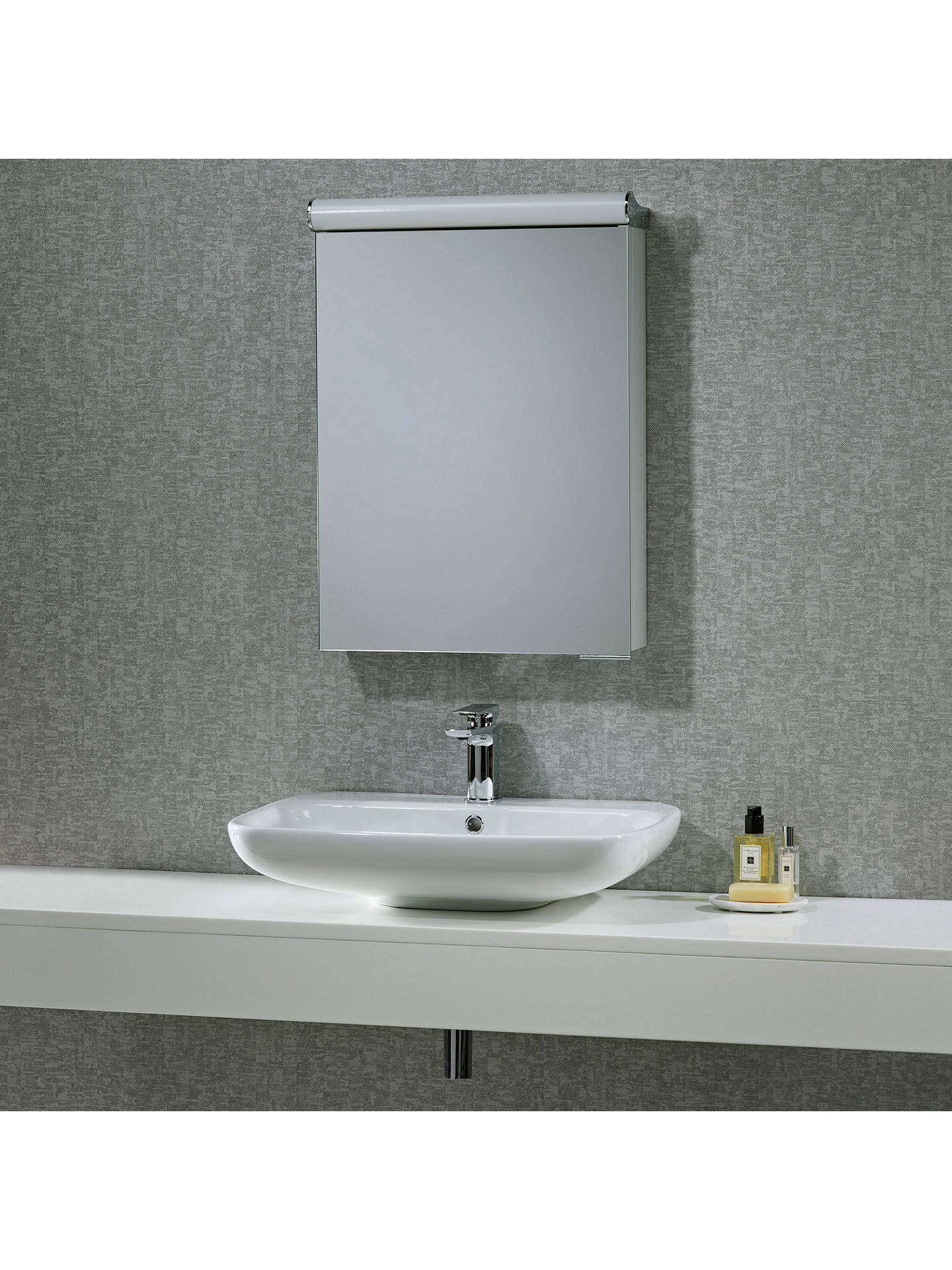 Roper Rhodes Elevate Illuminated Single Bathroom Cabinet With Double Sided Mirror Online At Johnlewis
