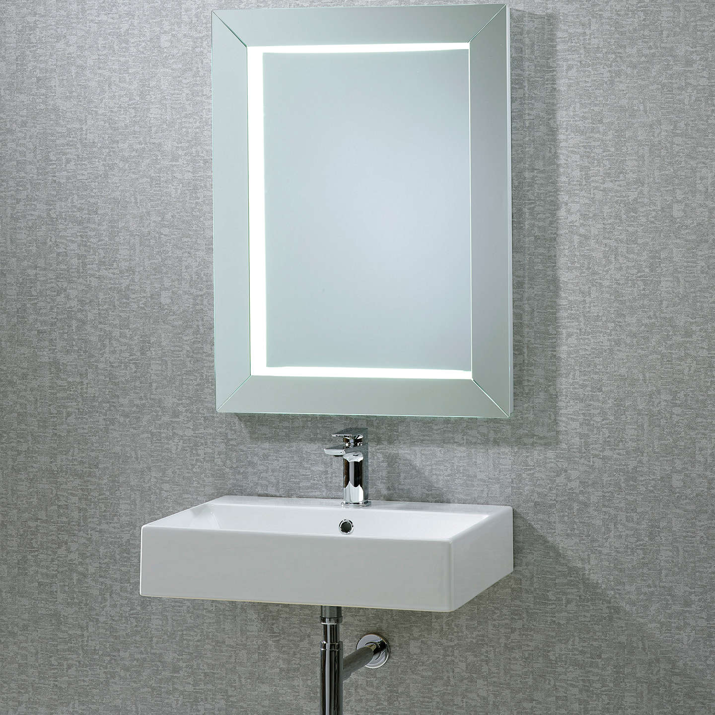 roper rhodes sense frame illuminated bathroom mirror at. Black Bedroom Furniture Sets. Home Design Ideas
