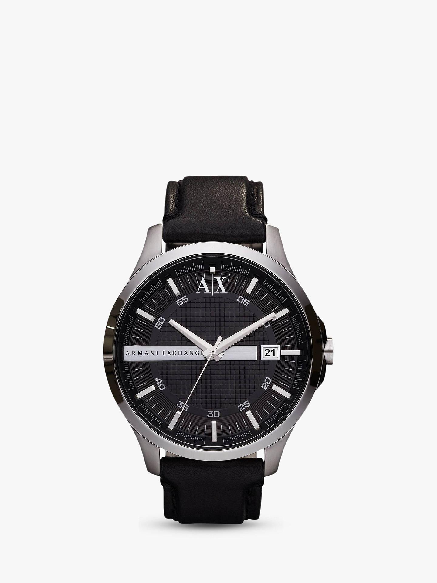 260e9d23c857 BuyArmani Exchange AX2101 Men s Date Leather Strap Watch