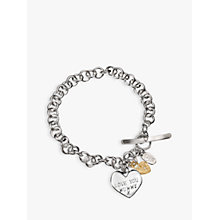 Buy Chambers & Beau Mummy Love Personalised Charm Bracelet Online at johnlewis.com