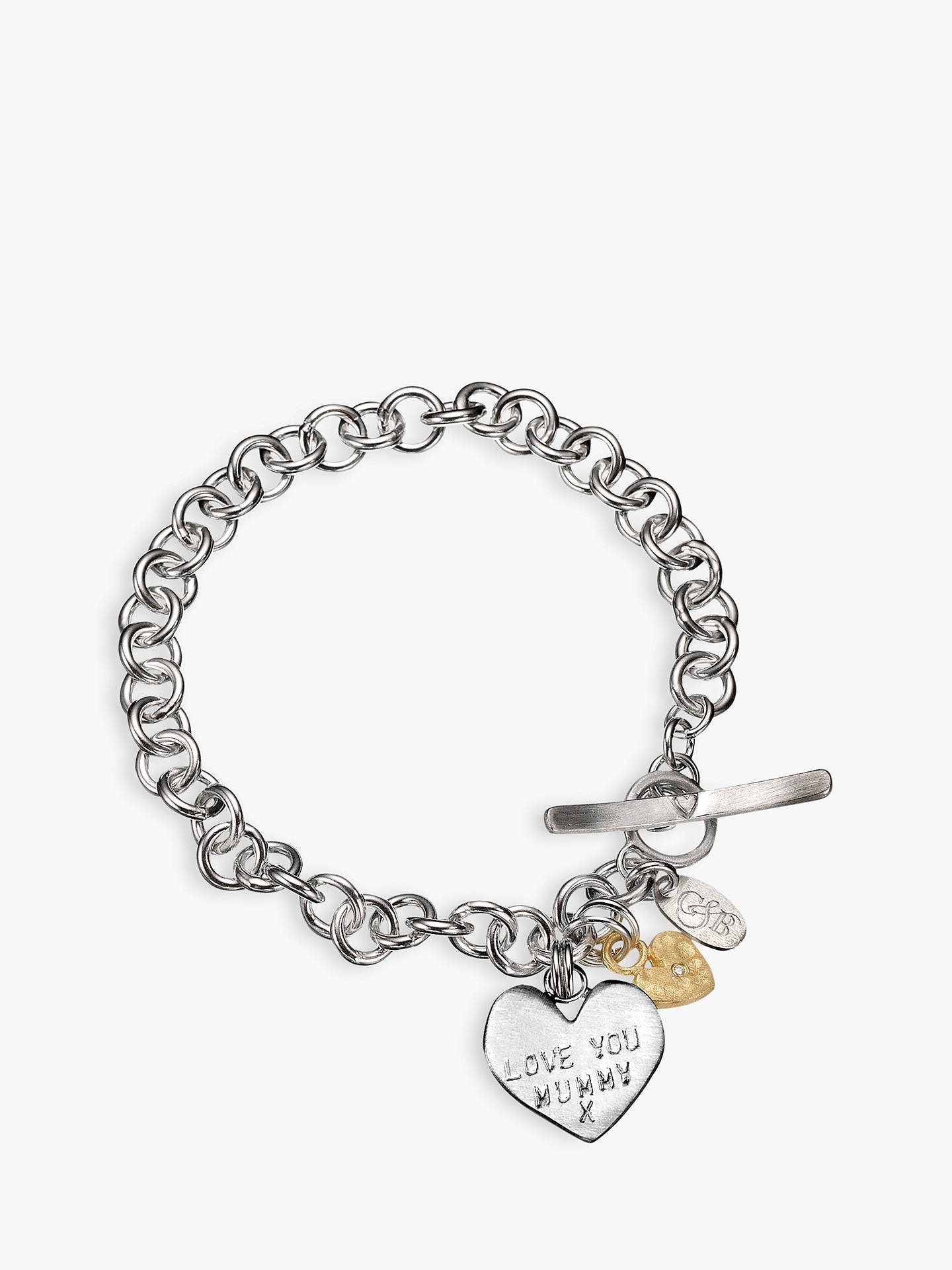 BuyChambers & Beau Mummy Love Personalised Charm Bracelet Online at johnlewis.com