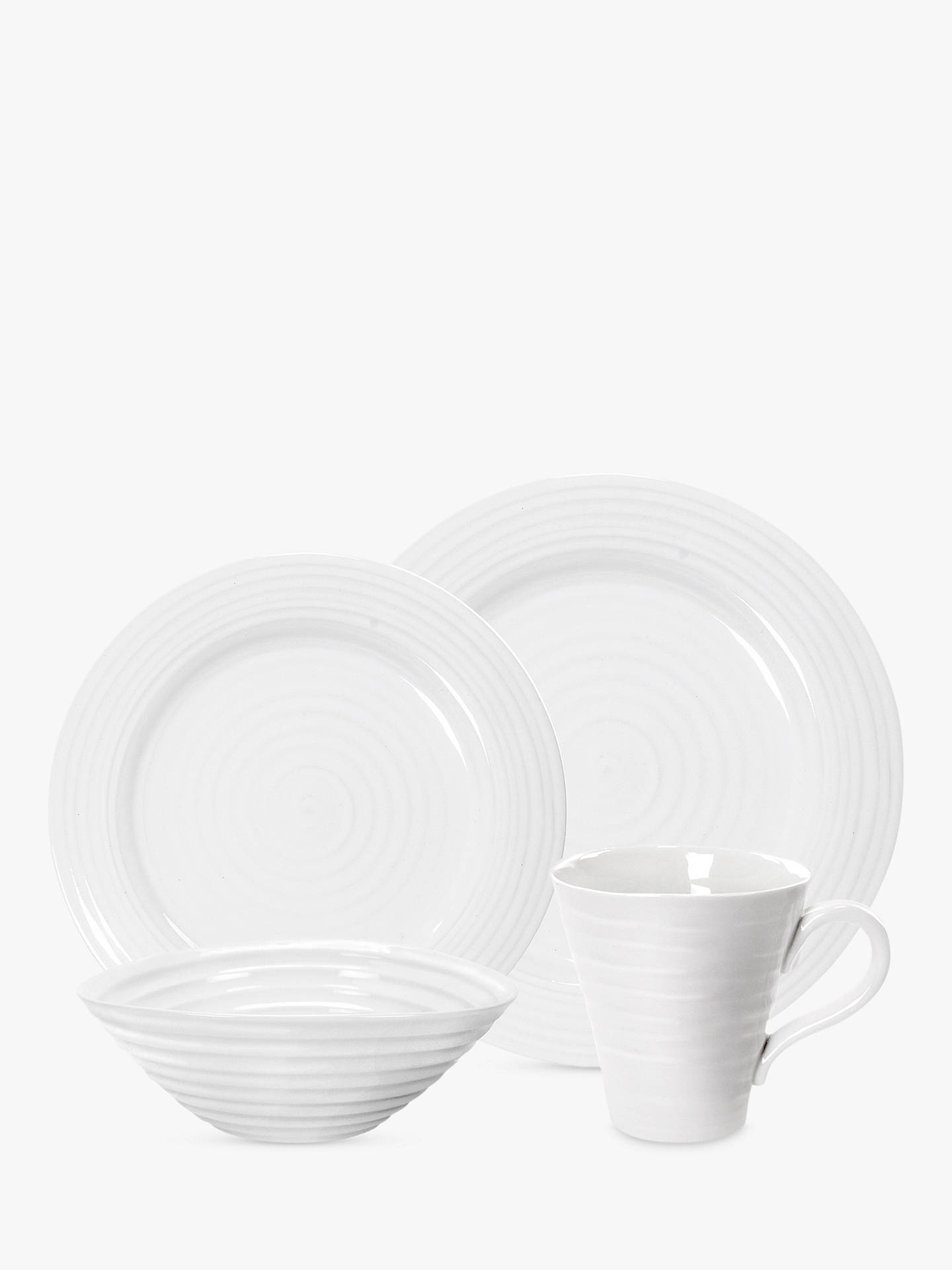 Buy Sophie Conran for Portmeirion Dinnerware Set, White, 4 Pieces Online at johnlewis.com