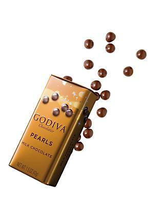 Godiva Milk Chocolate Pearls In a Tin, 40g