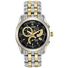 Buy Citizen BL8004-53E Men's Calibre 8700 Eco Drive Perpetual Calendar Bracelet Strap Watch, Silver/Gold Online at johnlewis.com