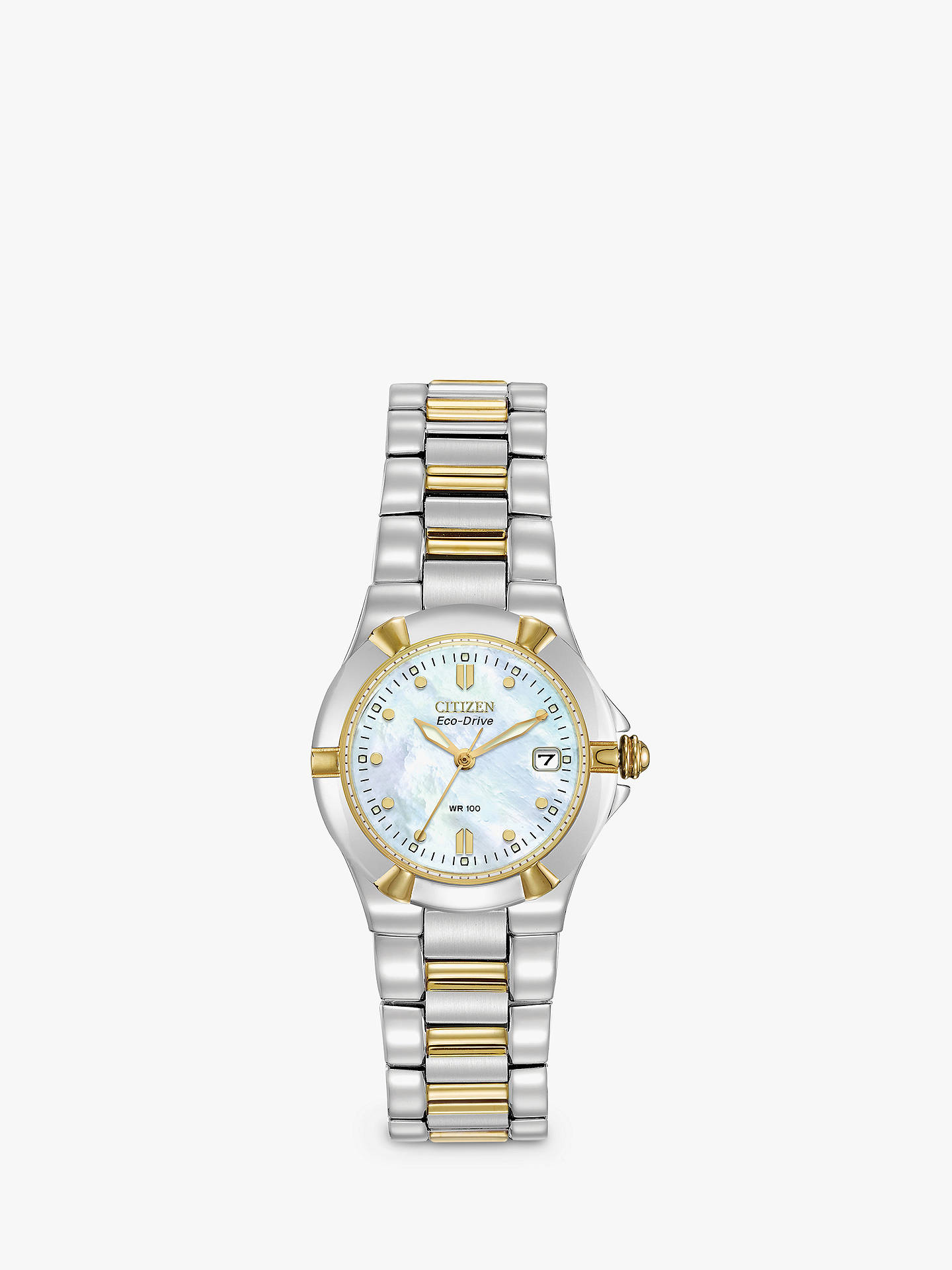 50dc3937082 Buy Citizen EW1534-57D Women s Eco-Drive Mother of Pearl Two Tone Bracelet  Strap ...