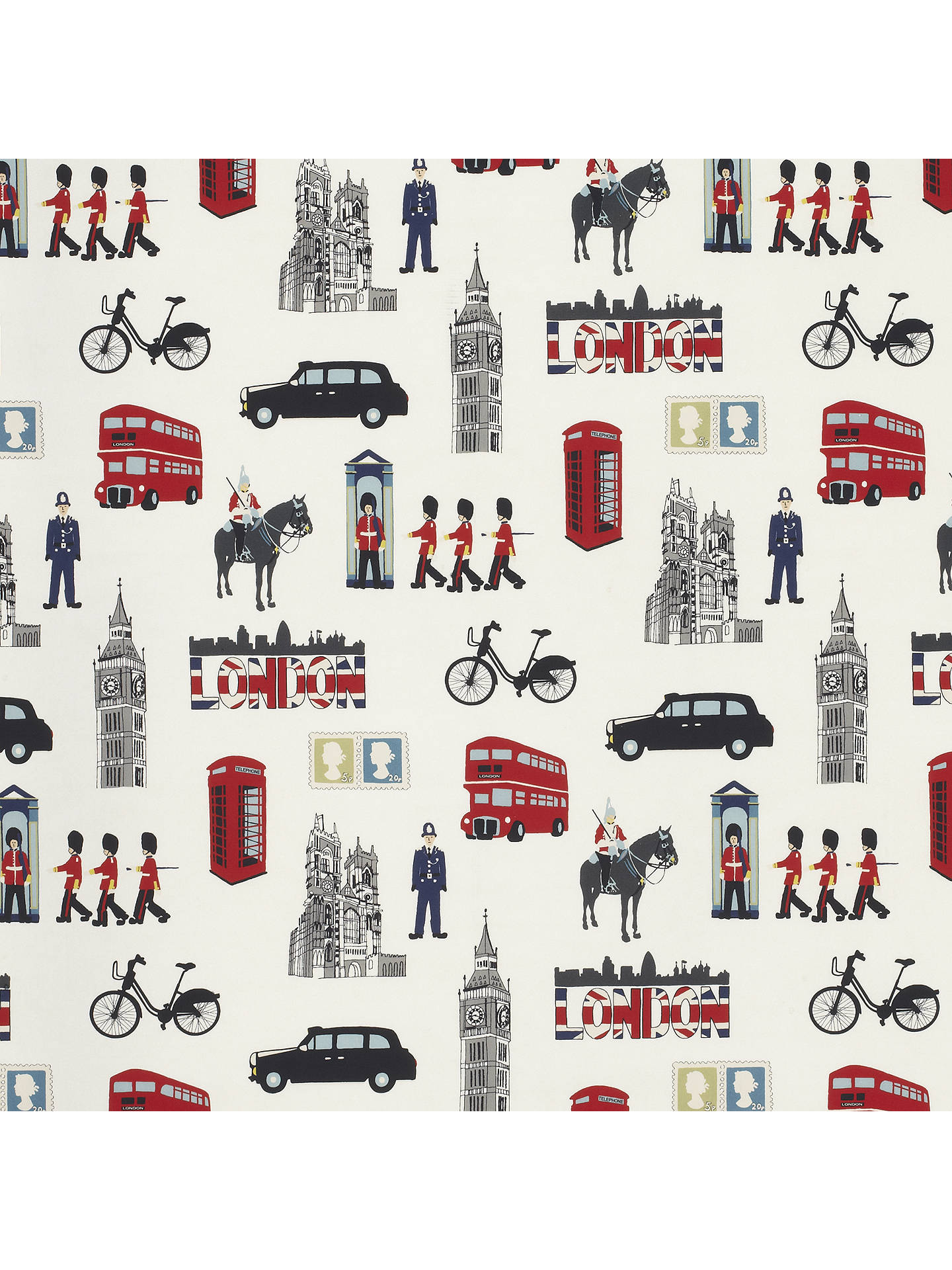 Buy John Lewis & Partners London City Life PVC Tablecloth Fabric, Multi Online at johnlewis.com