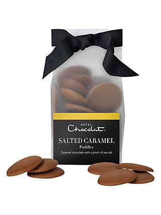 Hotel Chocolat Salted Caramel Chocolate Puddles, 115g