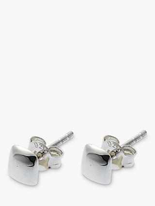 Nina B Polished Sterling Silver Square Stud Earrings
