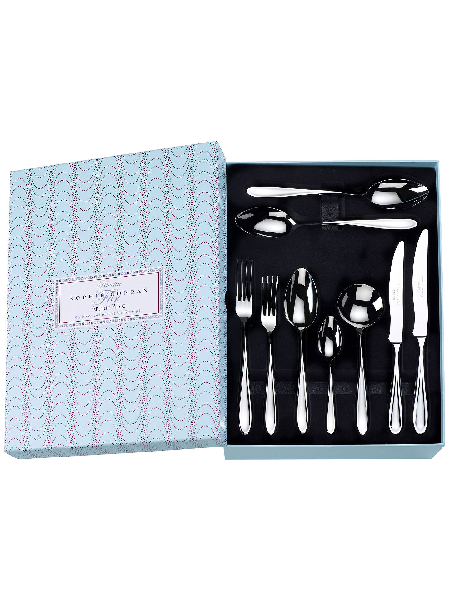 BuySophie Conran for Arthur Price Rivelin Cutlery Set, 44 Piece Online at johnlewis.com