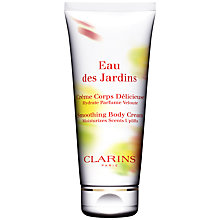 Buy Clarins Eau des Jardins Smoothing Body Cream, 200ml Online at johnlewis.com